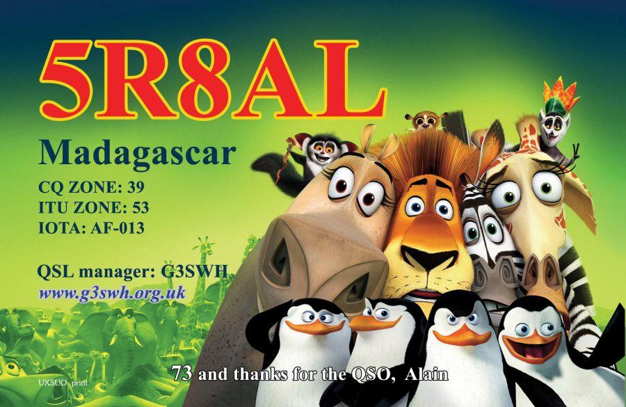 Мадагаскар 5R8AL QSL