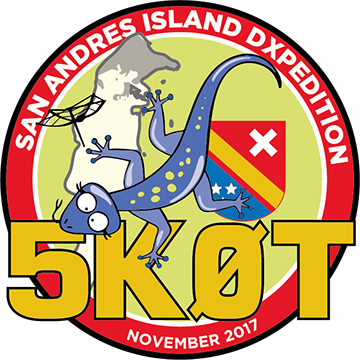 5K0T San Andres Island DX Pedition Logo