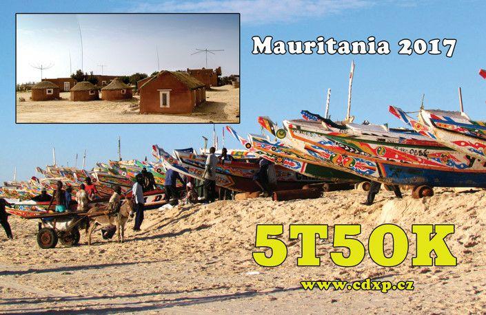 5T5OK Mauritania Article QSL