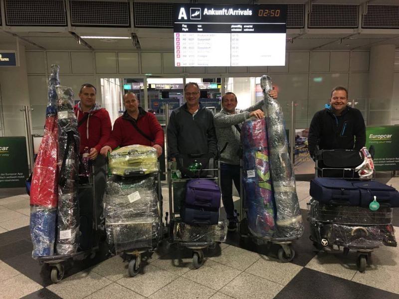 5T5OK Mauritania DX Pedition Munich Airport