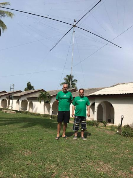 5V7P Togo News 26 April 2017 OK1FCJ OK6DJ Antenna