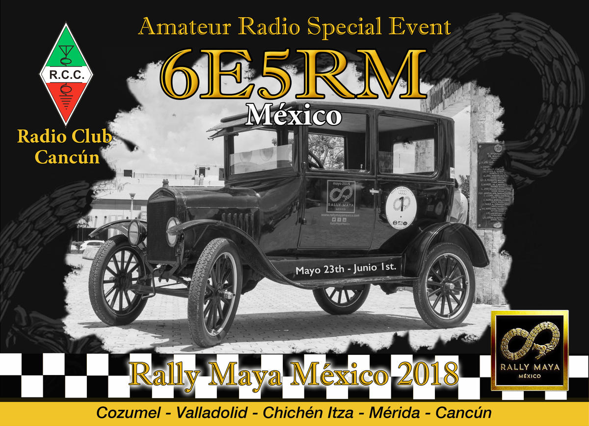 6E5RM 6E5RM/XF3 Радиоклуб Cancun, Ралли Мая 2018. Остров Консумель.