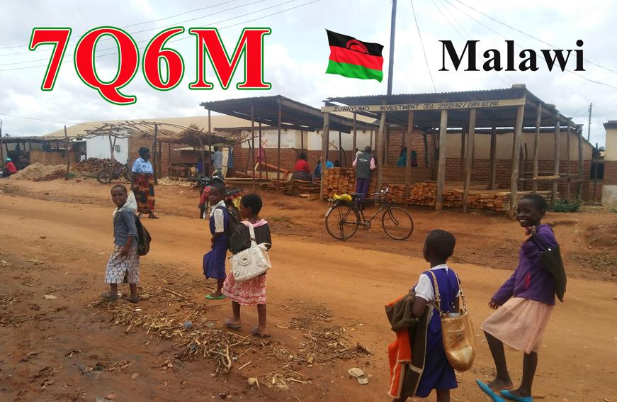 7Q6M Malawi QSL Card