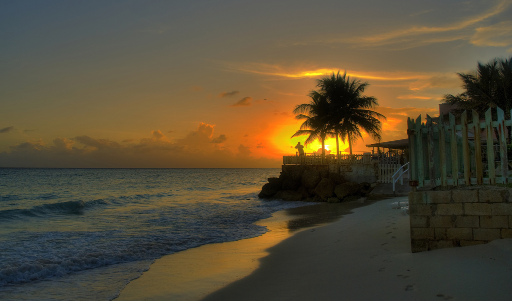 8P9DA Sunset, Maxwell, Christ Church, Barbados. Tourist attractions spot