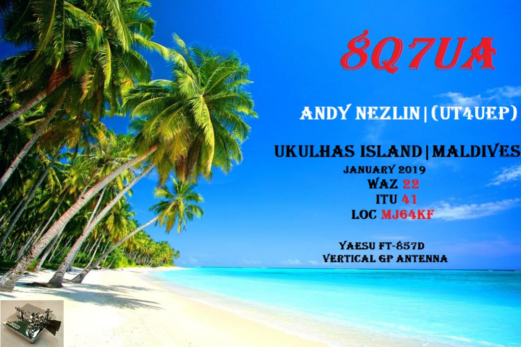 8Q7UA Ukulhas Island Maldive Islands Banner