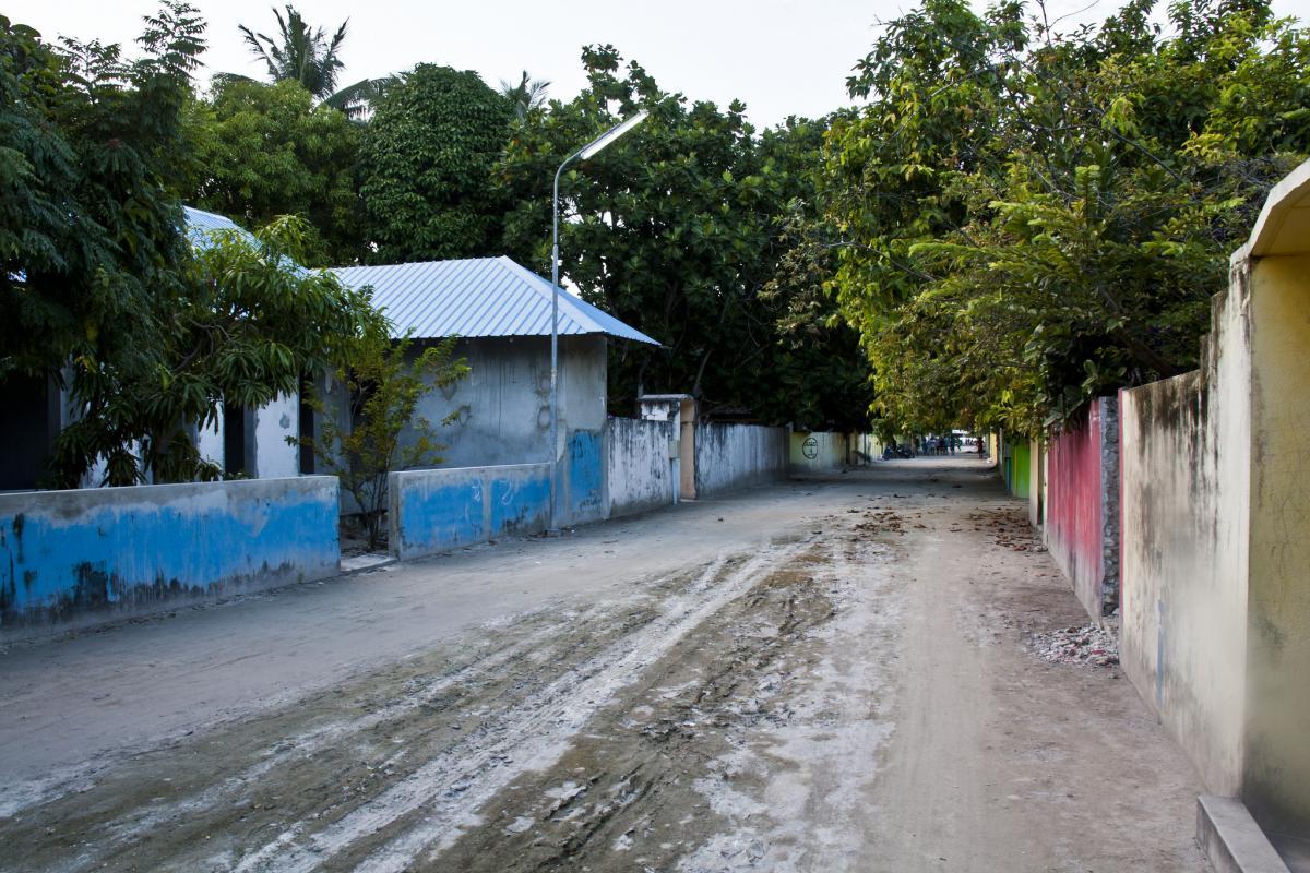 8Q7UA Остров Укулхас Мальдивские острова Туристические достопримечательности