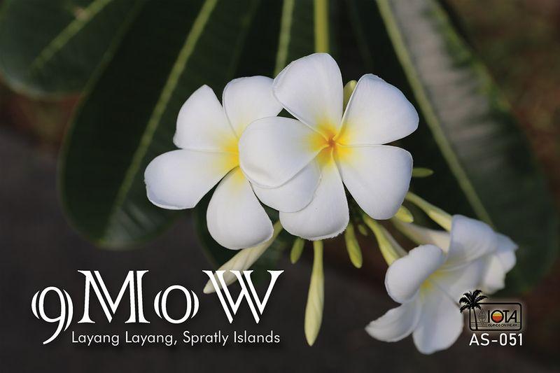 9M0W Layang Layang Island, Spratly Islands QSL Card
