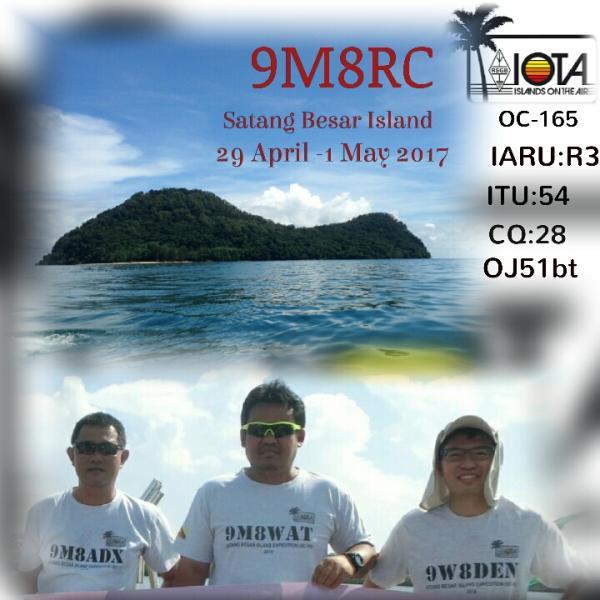 Satang Besar Island 9M8RC Logo