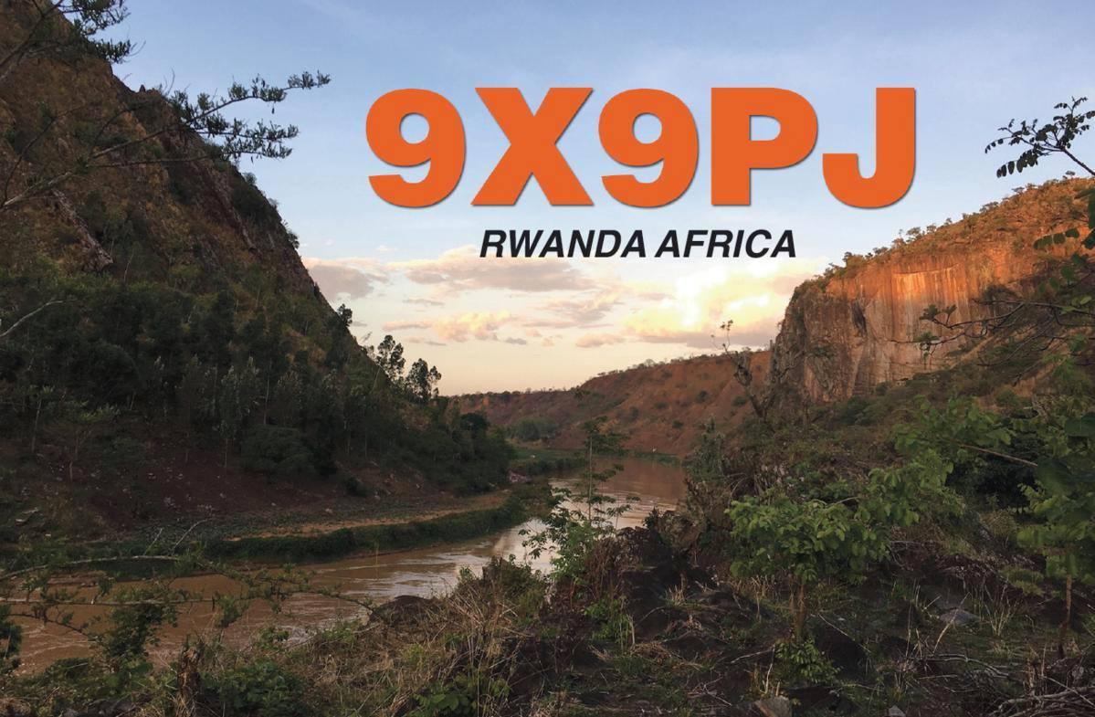 9X9PJ Руанда QSL