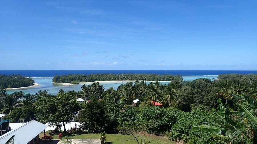 Остров Аитутаки E51DWC Острова Кука Панорамное фото