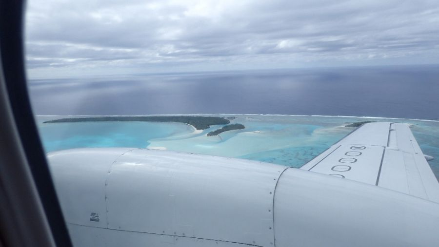 Flight to Aitutaki Island