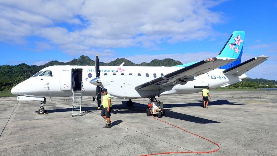 Остров Аитутаки Острова Кука Аэропорт Самолет