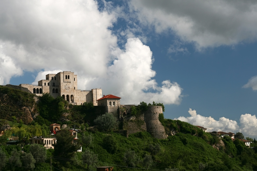 Tirana ZA/YL7A DX News Castle in Kruje, Albania