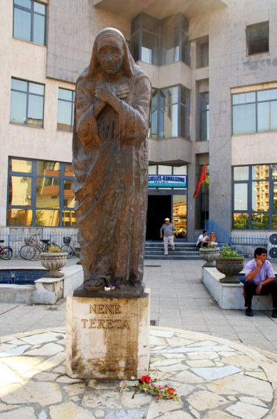 Albania ZA/YL7A Mother Teresa monument in Shkoder Albania