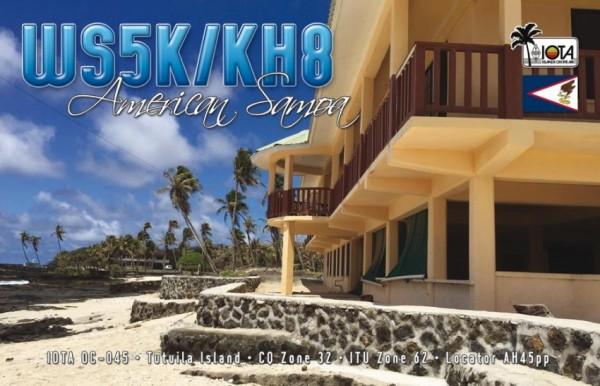 Американское Самоа WS5K/KH8 QSL
