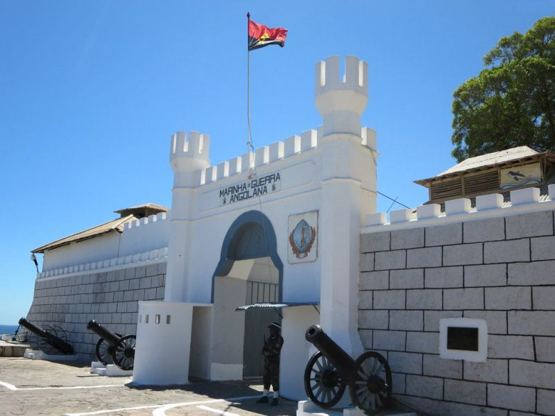 Angola D2/CT1ITE Tourist attractions spot Fortaleza de São Fernando, Bay of Namibe.