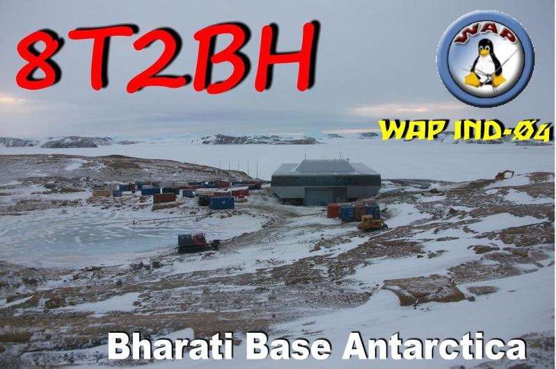 Bharati Research Station Antarctica 8T2BH