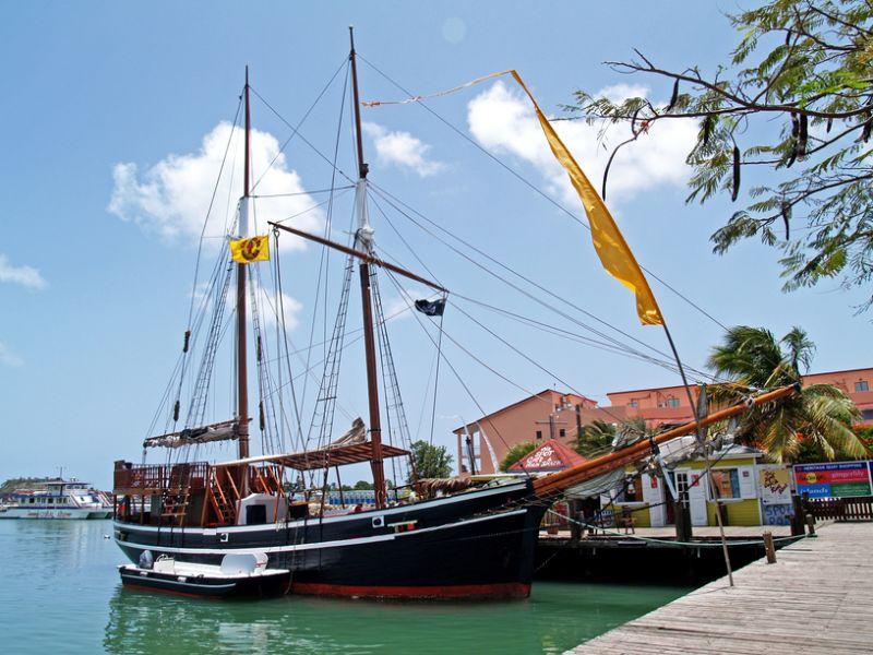 Antigua and Barbuda V25A Tourist attractions Pirate ship