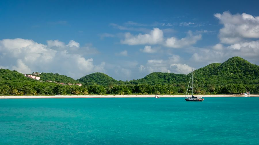 Antigua and Barbuda Islands V26IS Tourist attractions spot Beach.