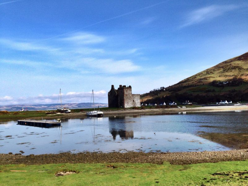 Isle of Arran GM7O Tourist attractions spot Lochranza Castle.