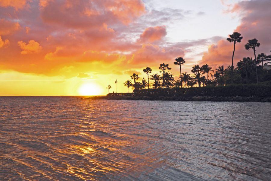 Aruba P40BC DX News Sunset at the beach on Aruba