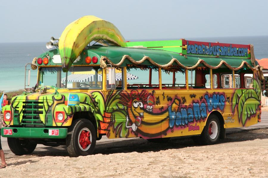 Aruba P49X Tourist attractions spot Tourist bus