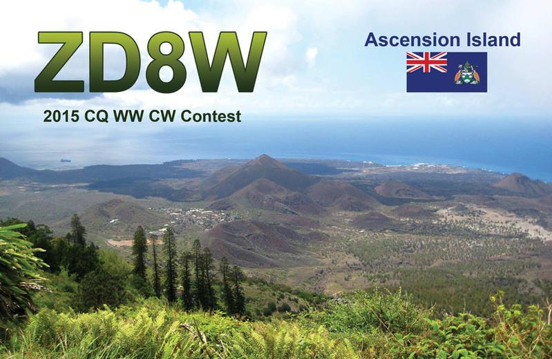 Ascension Island ZD8W QSL