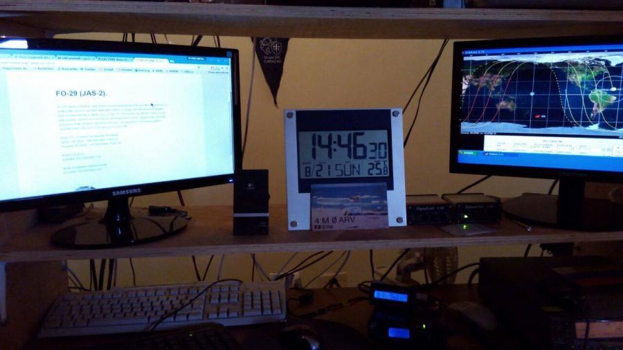 Aves Island YX0V Testing Satcom equipment