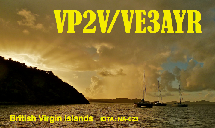 British Virgin Islands VP2V/VE3AYR QSL