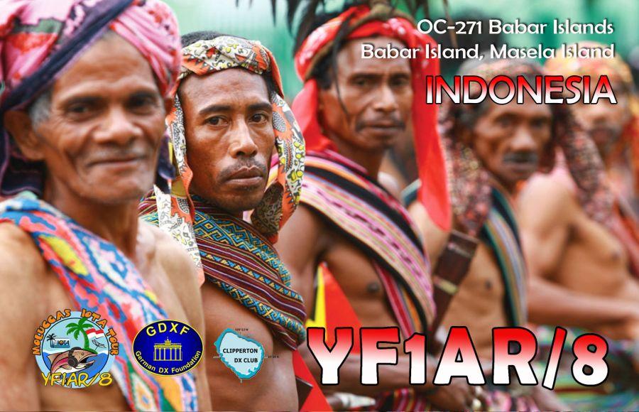 Babar Islands Babar Island Masela Island YF1AR/8 QSL