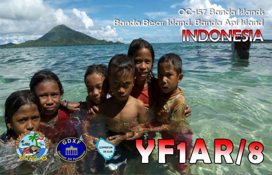 Banda Besar Island Banda Api Island Banda Islands YF1AR/8 QSL