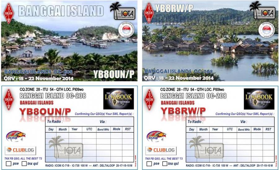 Остров Банггай YB8RW/P YB8OUN/P Острова Банггай