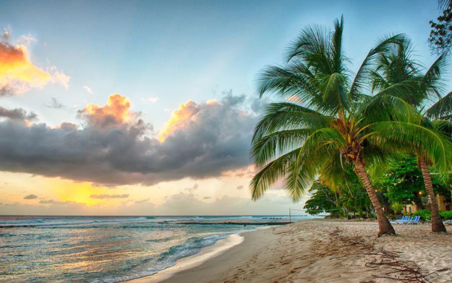 Барбадос 8P9CA Закат над морем.