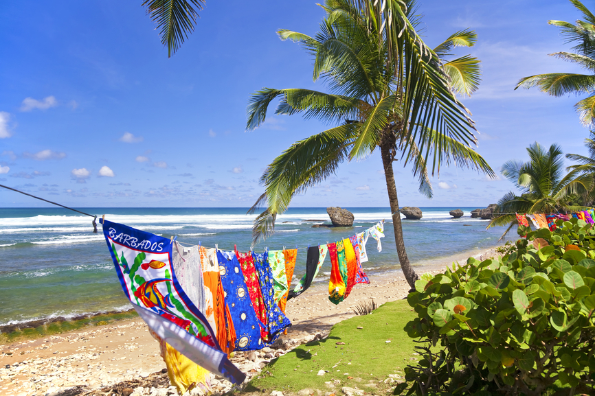 Barbados 8P9MC DX News Bathsheba Beach Towels Barbados