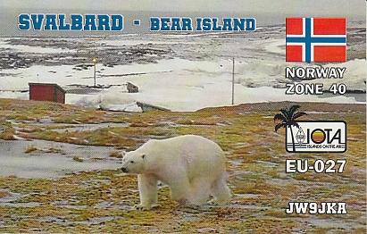 Остров Медвежий JW9JKA QSL