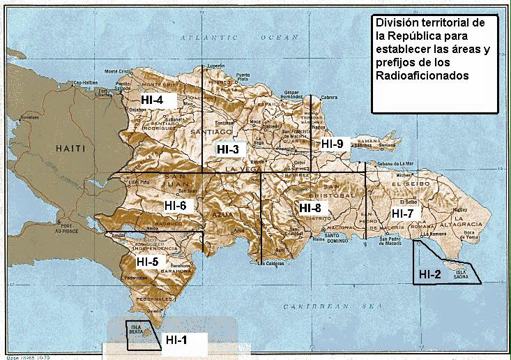 Beata Island Dominican Republic Amateur Radio Map