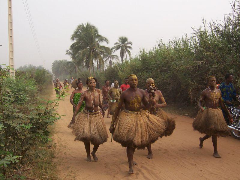 Benin TY1AI DX News Dancers, Ouidah.