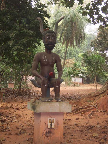 Benin TY1AI Tourist attractions spot Legba statue, Ouidah.