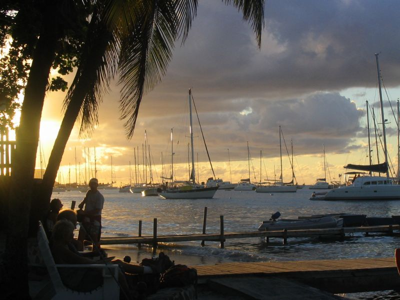 Bequia Island Grenadine Islands J8/WW2DX DX News Sunset.