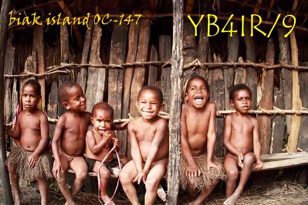 Остров Биак YB4IR/9 QSL