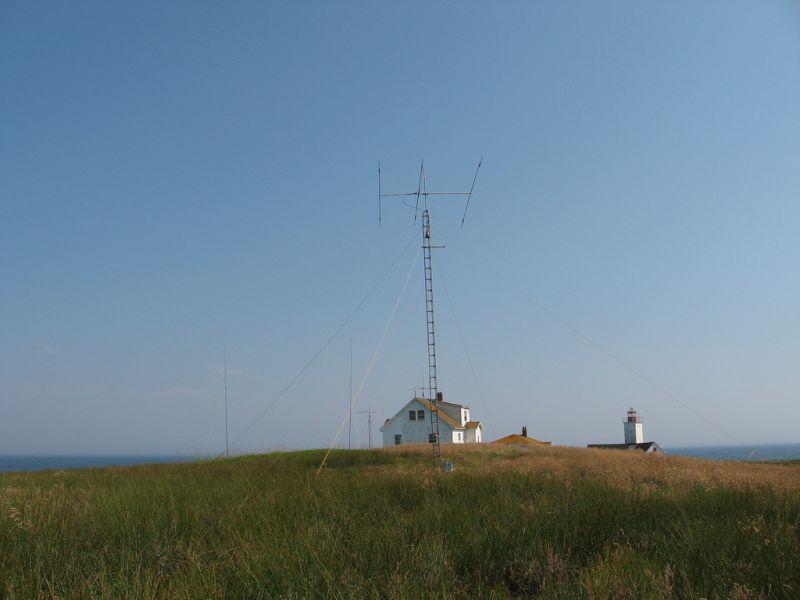 Остров Bon Portage VC1A Радиолюбительские антенны.