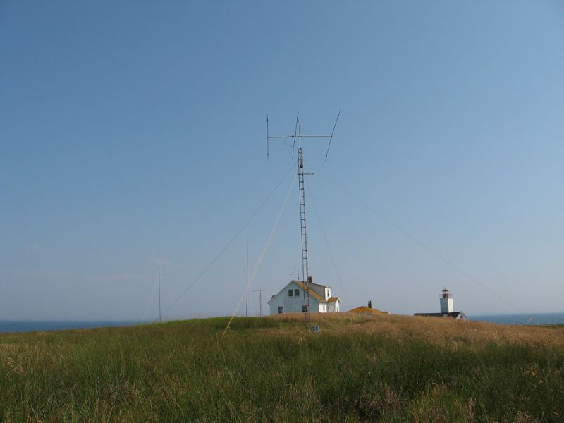 Bon Portage Island VC1A Ham Radio Antennas.