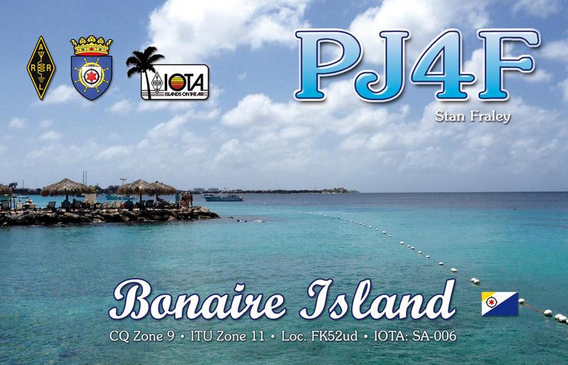 Остров Бонэйр PJ4F QSL