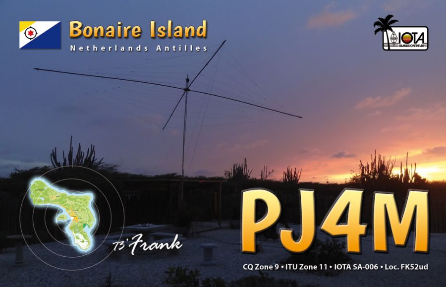 Остров Бонэйр PJ4M QSL