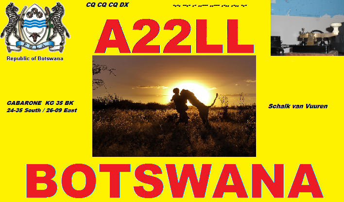 Ботсвана A22LL QSL