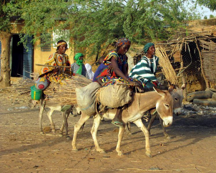 Burkina Faso XT2AFT Tourist attractions spot Gorum Gorum Market.