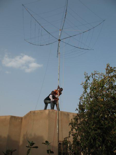 Буркина Фасо XT2AW Установка антенн