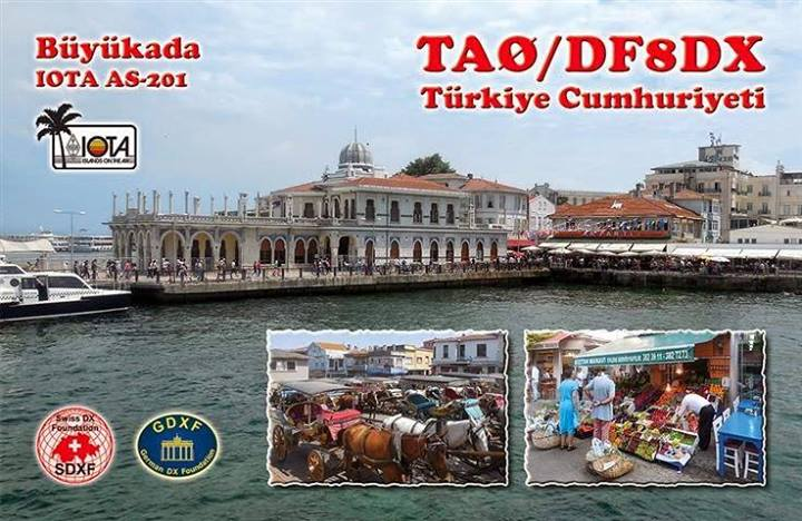 Buyukada Island TA0/DF8DX QSL