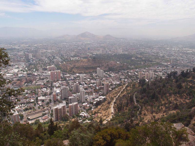 Сантьяго Чили Вид с холма