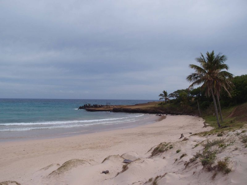 Остров Пасхи Пляж Анакена
